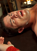 California beach stud Troy Collins receives an edging in bondage for the first time in his life.