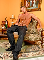 Muscled hunk Dan Camillo stripping