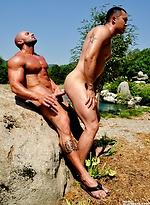 Pummeling Archer's ass. Starring Archer Quan, Max Chevalier