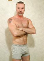 Hairy muscle bear Brando naked