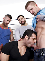Hard foursome action