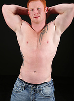 Red-haired boy Jordan jacking off