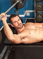 Brock Cooper masturbates in the gym