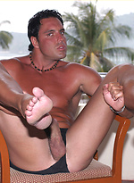 Hunky Marcello rubbing his cock and exploding cum