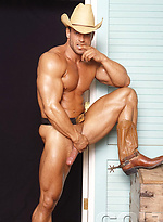 Matt Horner shows his perfect muscled body
