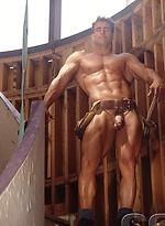 Bodybuilder Myles West naked
