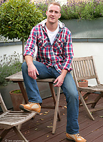 Hairy Straight Young Hunk Matt Cardle - When not Singing or Painting Find him Wanking in the Sunshine!