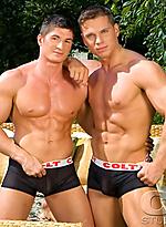 Eric Valentin and Jasper Van Dean fucking outdoors