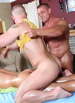 Dirty gay masseur hitting on his customers