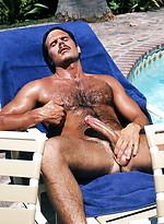 Hairy hunk naked. Gay vintage pics.