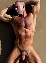 Muscle hairy hunk Vic Rocco naked