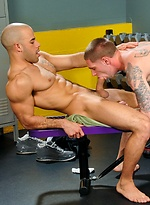 Austin Wilde and Jay Rising fucking in a gym