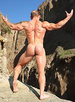 Muscle hunk Ben Kieren outdoors by Vin Marco