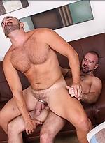 Hairy mature muscl men Josh West and Jessie Balboa fucking