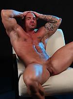 Hardcore muscle icon Caesar naked
