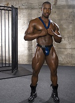 Muscled black lad Marc Williams
