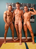 Jake Andrews finds himself in the middle of an interracial threeway with Marcel Cruz and Sean Zevran.