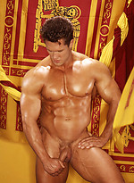 Greg Rhiner posing naked