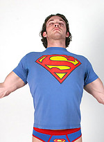Clark Kent shows his perfect body