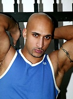 Bald latin muscle man Rico