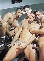 Hot muscle studs Marcus Iron, Karl Tenner, Nicholas Clay, Fernando Montana and Blake Harper fucking