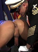 Muscle rmy men Spencer Reed and Adam Killian fucking